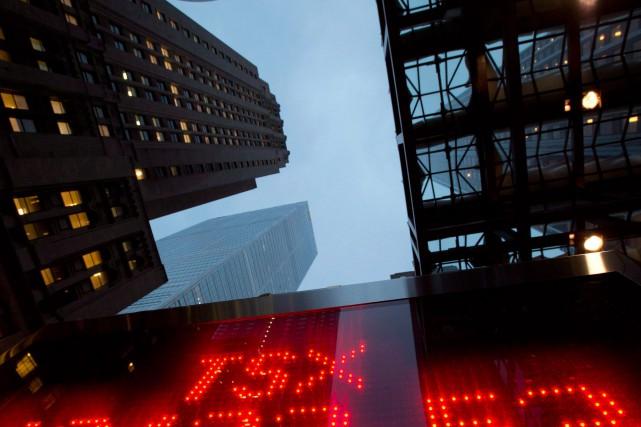 Les gains de la Bourse de Toronto sont... (PhotoFrank Gunn, Archives La Presse Canadienne)