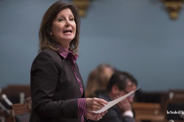 La députée Diane Lamarre, porte-parole de l'opposition officielle... (Photothèque Le Soleil, PC Jacques Boissinot)
