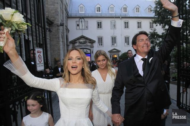JulieSnyder etPierre-Karl Peladeau lors de leur mariage.... (Archives La Presse)