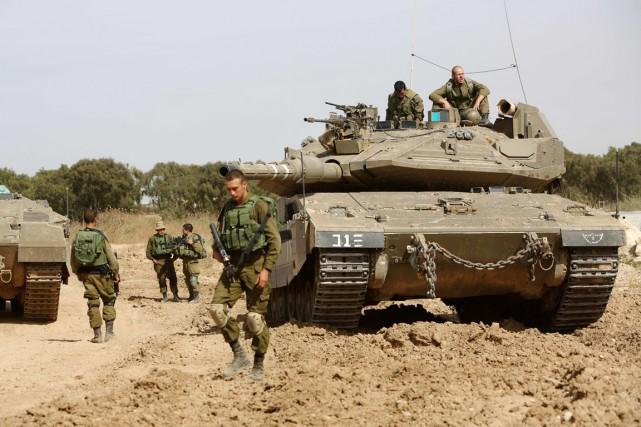 La frontière entre Israël et la bande de... (PHOTO MENAHEM KAHANA, AFP)