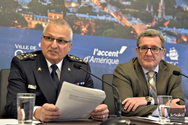 Le directeur du Service de police de la... (Photothèque Le Soleil, Pascal Ratthé)