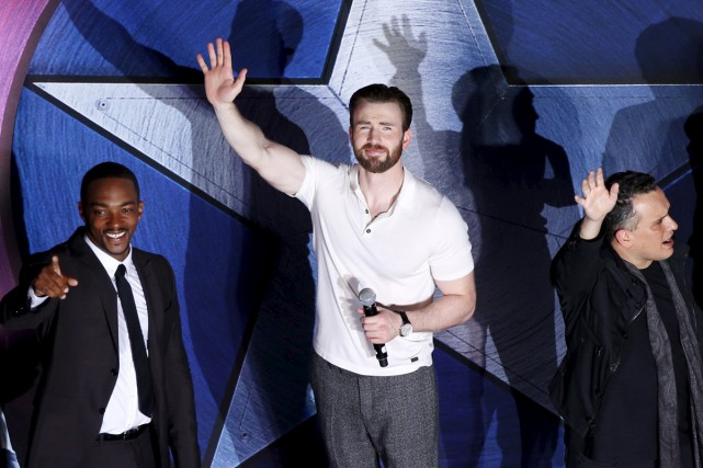 Chris Evans à la première du film Captain... (PHOTO REUTERS)
