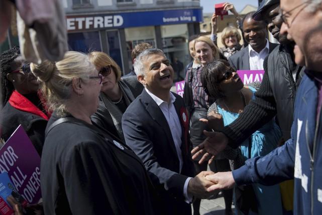 Sadiq Khan, candidat à la mairie de Londres,... (AFP, Justin Tallis)
