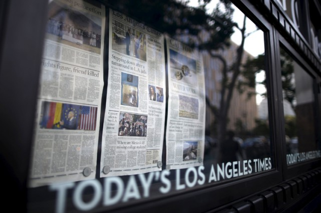 Tribune Publishing est notamment propriétaire du Los Angeles... (PHOTO REUTERS)