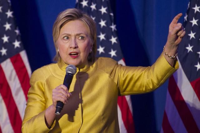 Hillary Clinton a prononcé une allocution lors d'une... (AP, Cliff Owen)