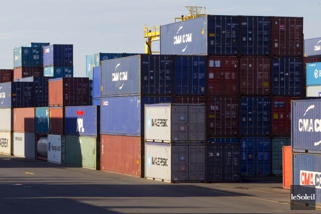 Le déficit commercial du Canada s'est creusé en mars pour atteindre le niveau... (Photothèque Le Soleil)