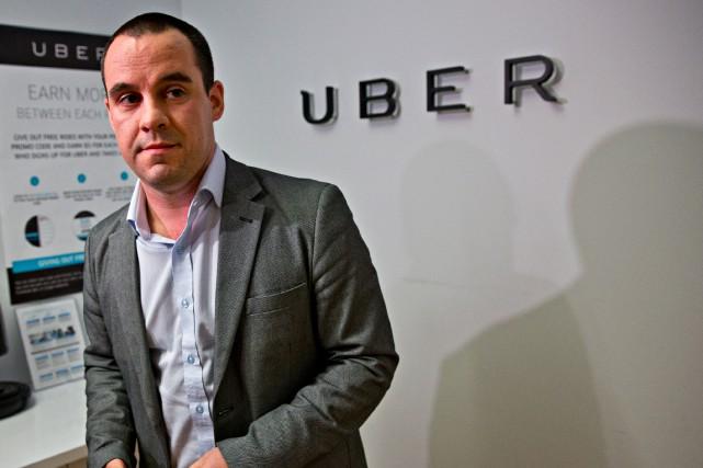 Le directeur général d'Uber au Québec, Jean-Nicolas Guillemette,... (PHOTO PATRICK SANFAÇON, LA PRESSE)