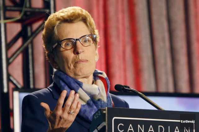 La première ministre Kathleen Wynne... (Simon Séguin-Bertrand, Archives LeDroit)