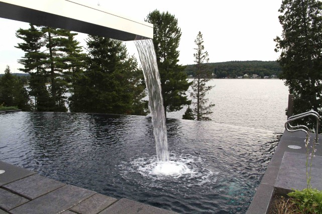 Les jets d'eau sont à la fois originaux... (Fournie par Piscines Soucy)