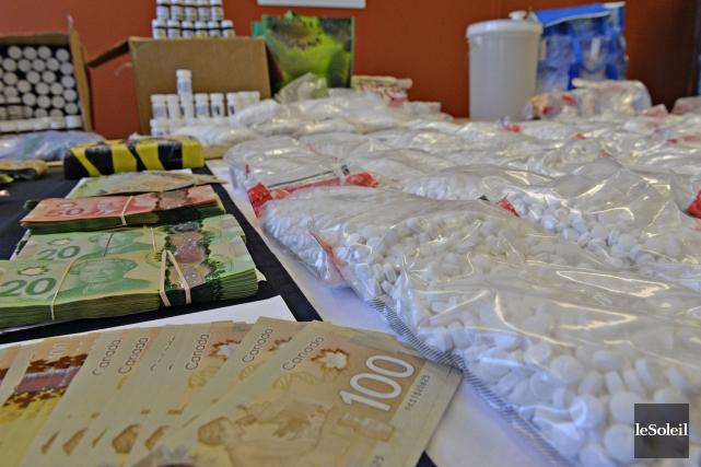 Trois kilogrammes de cocaïne, 100 000 comprimés de... (Le Soleil, Pascal Ratthé)