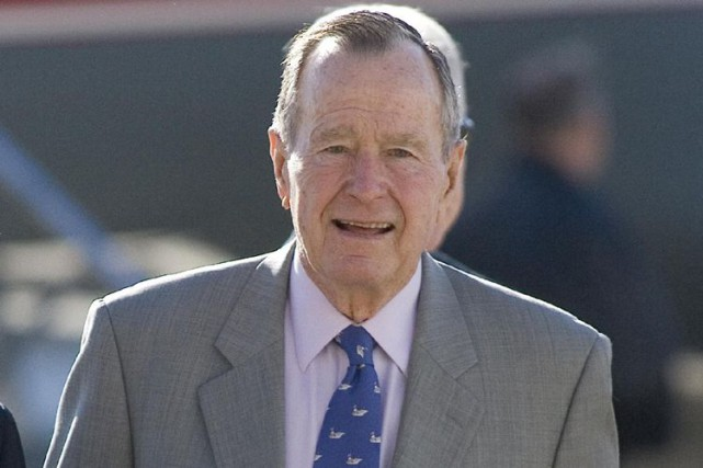 George Bush pèrea été président de 1989 à... (Photo archives AFP)