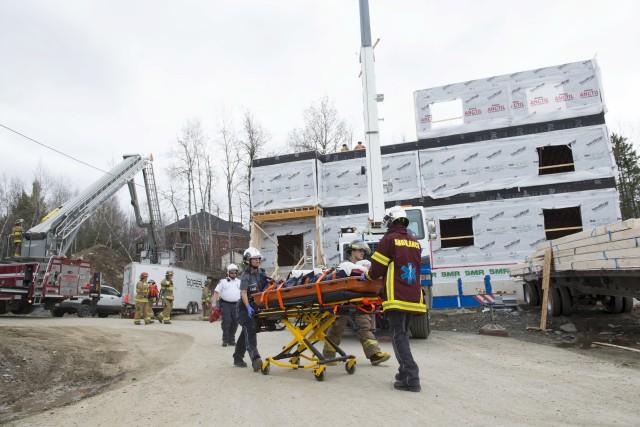 L'accident est survenu sur ce chantier de la... (Spectre Média, Julien Chamberland)