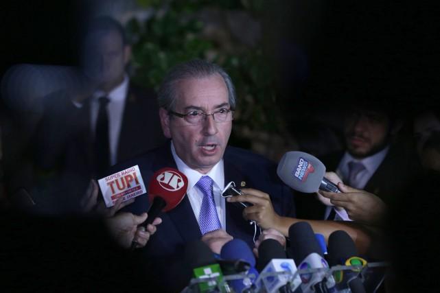 Le président de la Chambre des députés, Eduardo... (PHOTO ERALDO PERES, ASSOCIATED PRESS)