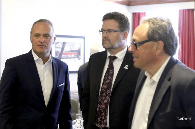 Le président de la CCG, Jean-Louis Desrosiers, et... (Patrick Woodbury, LeDroit)
