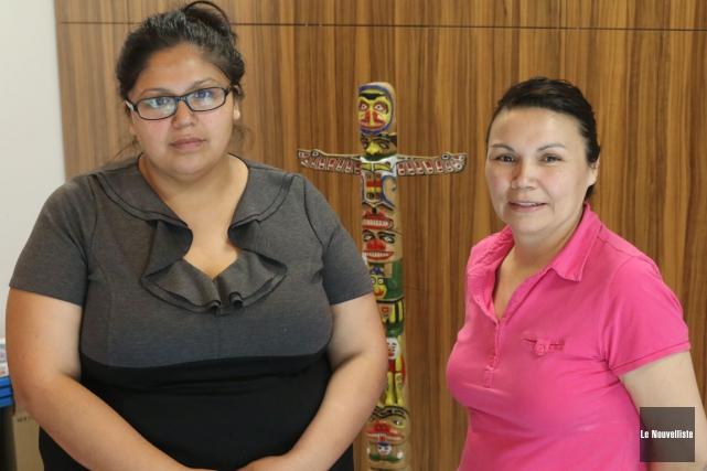 Laurianne Petiquay et Jocelyne Basile ont été évacuées... (Audrey Tremblay, Le Nouvelliste)