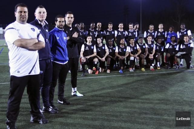 L'équipe d'entraîneurs du FC Gatineau - Nabil Aoudi,... (Etienne Ranger, LeDroit)