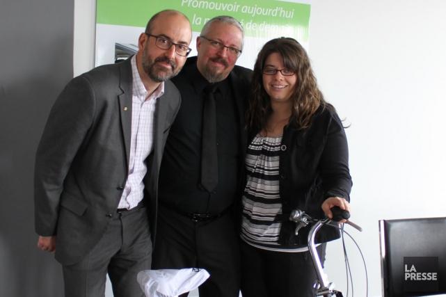 De gauche à droite: Pascal Laliberté, conseiller en...