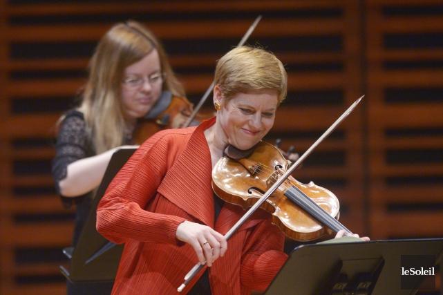 La violoniste Isabelle Faust a ravi les mélomanes... (Le Soleil, Jean-Marie Villeneuve)