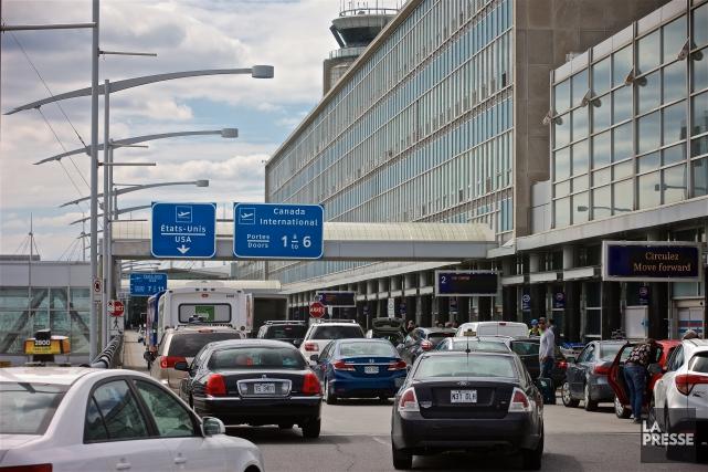 L'aéroport Trudeau à Montréal a accueilli un nombre record de 16,6 millions de... (Photo André Pichette, La Presse)