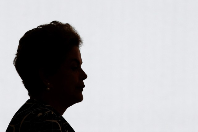 La présidente du Brésil Dilma Rousseff, à Brasilia,... (PHOTO ERALDO PERES, AP)