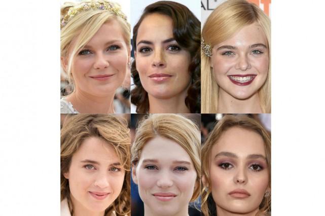 Des actrices comme Kirsten Dunst, Bérénice Béjo, Elle... (PHOTO AFP)