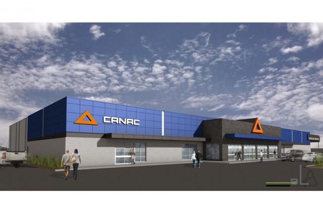 Canac ouvrira une première succursale en banlieue sud... (ILLUSTRATION FOURNIE PAR CANAC)
