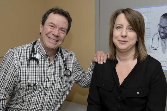 Le cardiologue Alain Raymond et sa patiente Sonia... (Sylvain Mayer)
