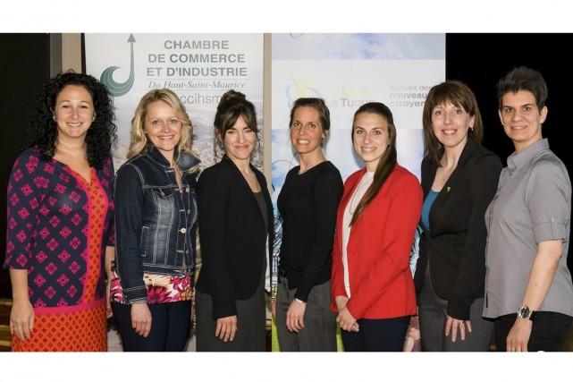 Sophie Beaudet, Emploi Québec Mauricie, Manon Côté, CCIHSM,... (François Carophotos)