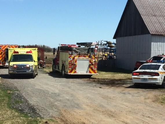 L'accident est survenu sur cette ferme du 9e... (Collaboration spéciale, Éric Beaupré)