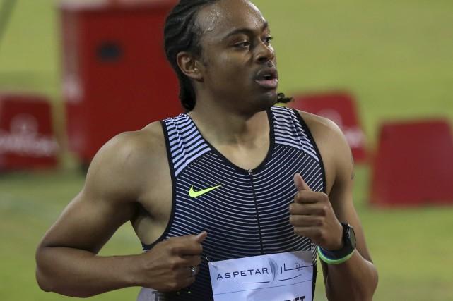 Champion olympique du 110 m haies récemment greffé... (AFP, Karim Jaafar)