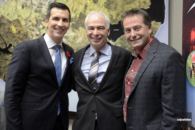 Marc Denis, Richard Letourneau et Jean-Francois Abraham... (Photo Le Quotidien, Jeannot Lévesque)