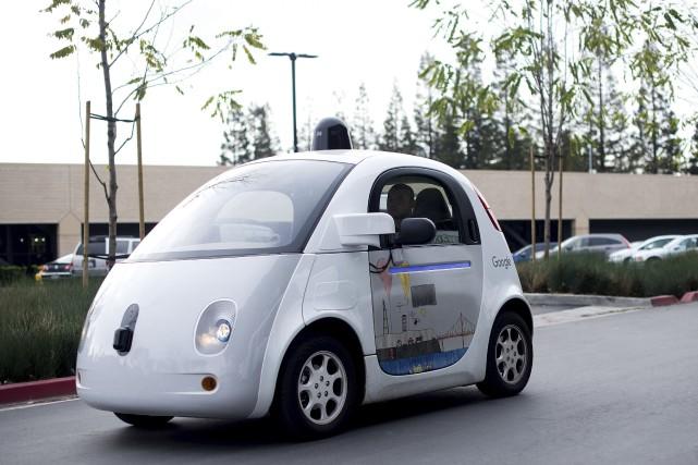 La voiture autonome Google Car... (AFP, Noah Berger)