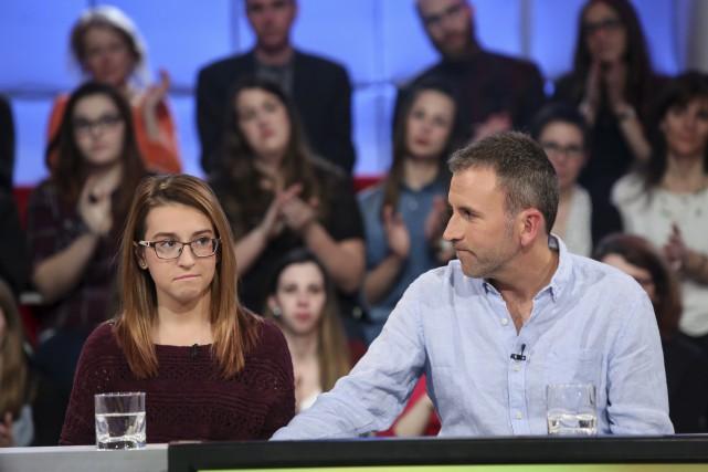 Laurie-Ann et son père, Pascal Laflamme, à Tout... (Photo ICI Radio-Canada)