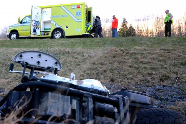Un motocycliste sherbrookois a été gravement blessé dans un accident survenu... (Collaboration spéciale, Éric Beaupré)