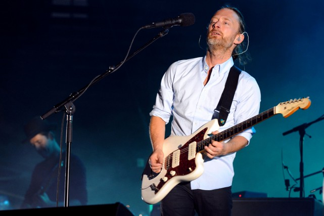 Le chanteur de Radiohead Thom Yorke... (PHOTO SYLVAIN THOMAS, ARCHIVES AFP)