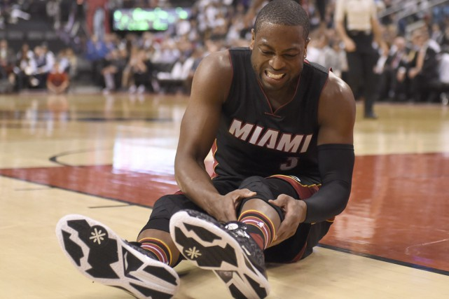 Dwyane Wade promet de changer sa routine d'avant-match après que son... (Photo La Presse Canadienne)