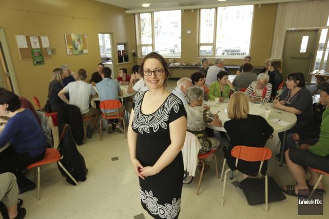 La chargée de projet Esther Laframboise était satisfaite... (Catherine Trudeau, La Voix de l'Est)