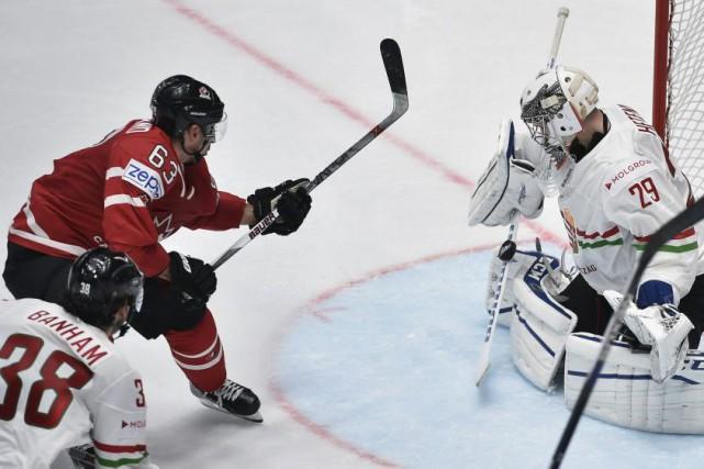 Sept joueurs canadiens différents ont déjoué le gardien... (Alexander Nemenov, AFP)