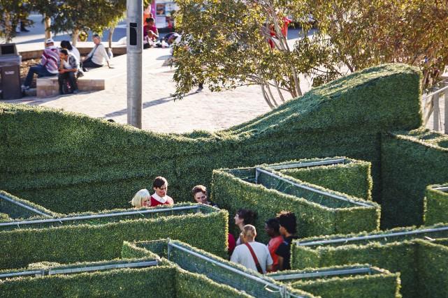 Le dotMaze, un énorme labyrinthe de 3000 pieds... (Courtoisie)