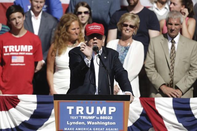 Le probable candidat républicain à la Maison Blanche Donald Trump a laissé... (AFP, Jason Redmond)