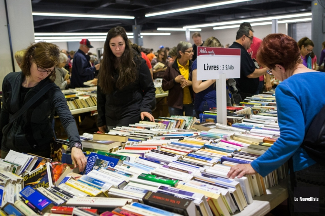 La population est invitée à la Biblio-vente qui... (Olivier Croteau, Le Nouvelliste)