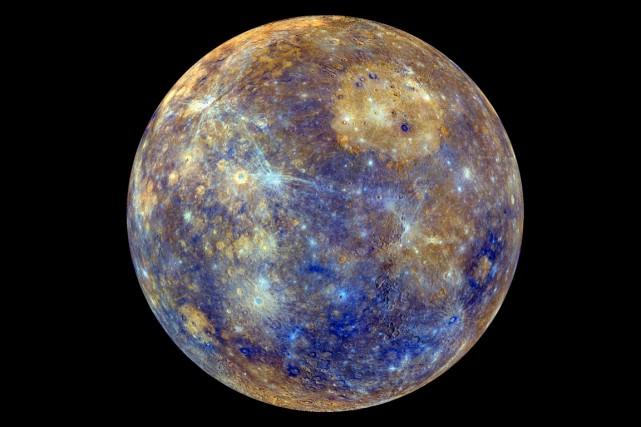 Mercure, la plus petite planète du système solaire, passe ce lundi entre la... (Photo AFP)