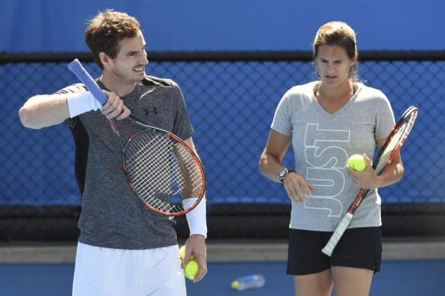 Andy Murray et Amélie Mauresmo... (PHOTO WILLIAM WEST, ARCHIVES AGENCE FRANCE-PRESSE)