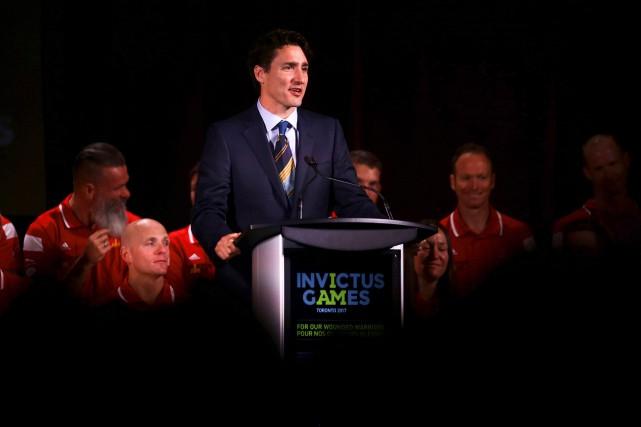 Le premier ministre Justin Trudeau était à Toronto... (PhotoCole Burston, Agence France-Presse)