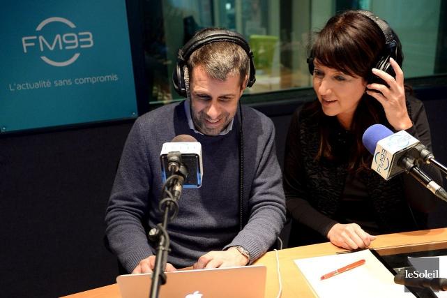 Éric Duhaime et Nathalie Normandeau, lorsqu'ils animaient ensemble... (Photothèque Le Soleil, Erick Labbé)