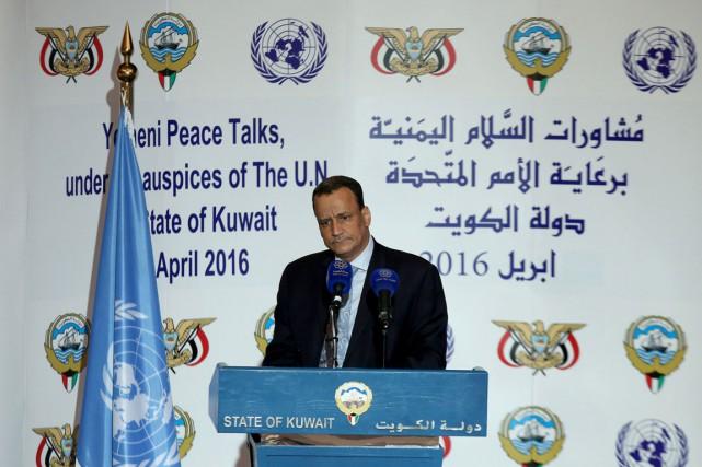 L'émissaire de l'ONU pour le Yémen,Ismaïl Ould Cheikh... (PHOTO AFP)