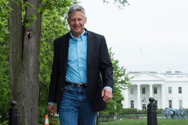Gary Johnson aimerait récupérer les républicains consternés par... (PHOTO AFP)