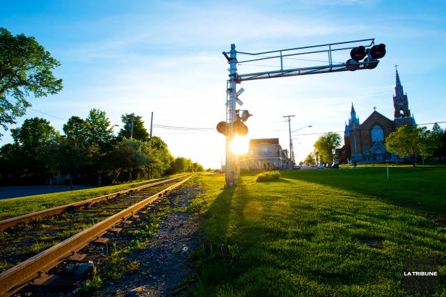 La voie ferroviaire du centre-ville de Lac-Mégantic... (Archives La Tribune)