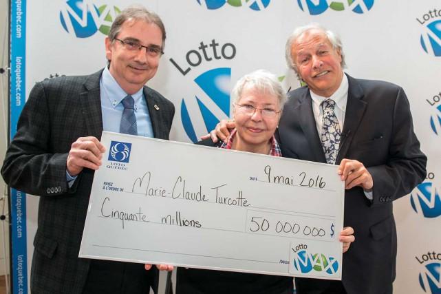Une dame de Sorel-Tracy est l'unique gagnante du gros lot de Lotto Max de 50... (Courtoisie Loto-Québec)