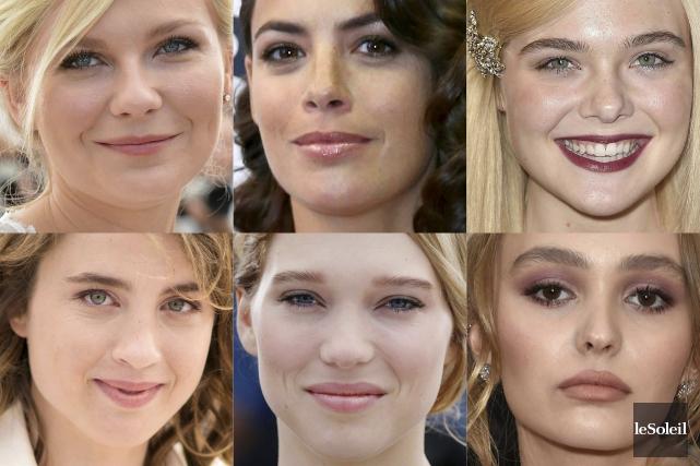 Kirsten Dunst,Bérénice Bejo,Elle Fanning,Adèle Haenel,Léa Seydoux etLily-Rose Depp... (Infographie Le Soleil)
